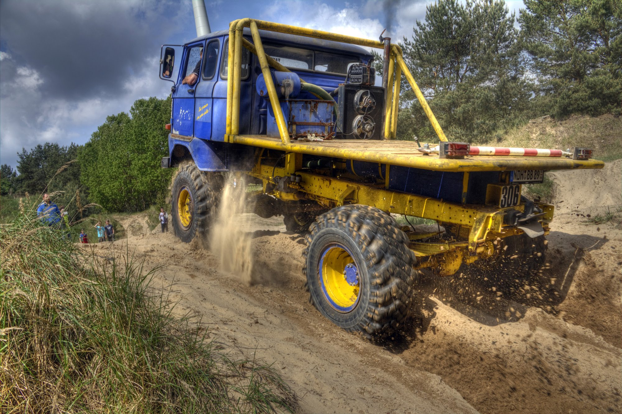 IFA W50 Trucktrial Fahrzeug 2016 beim IFA-Tours Treffen