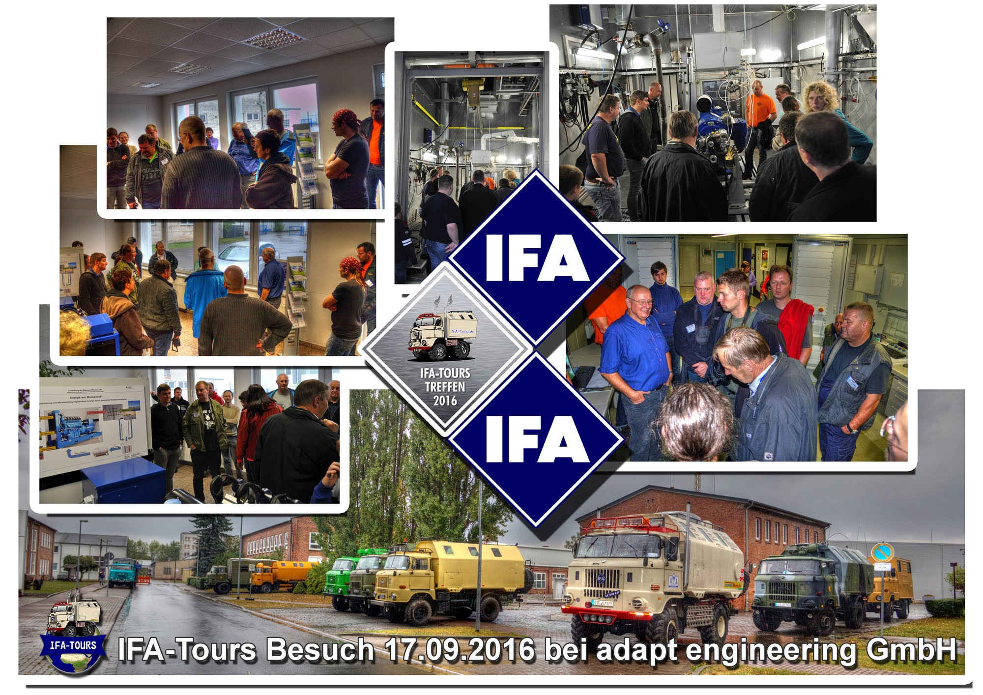 IFA-Tours Treffen 2016 Nordhausen - Besuch Motorenprüfstände