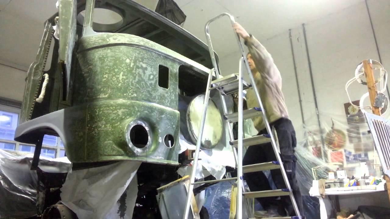 Die IFA Garage - Projekt IFA W50 Überholung - Neues Blech und neue Farbe - Teil 4