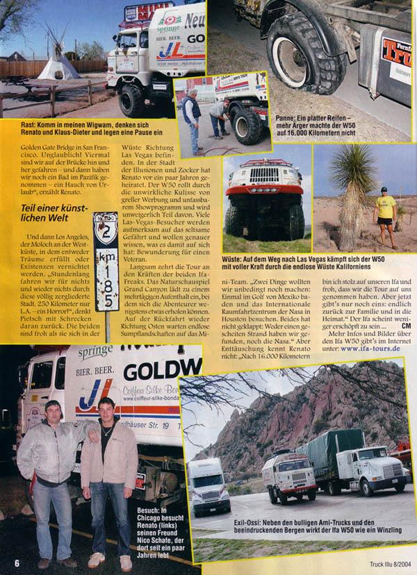IFA W50 Tour Nordamerika