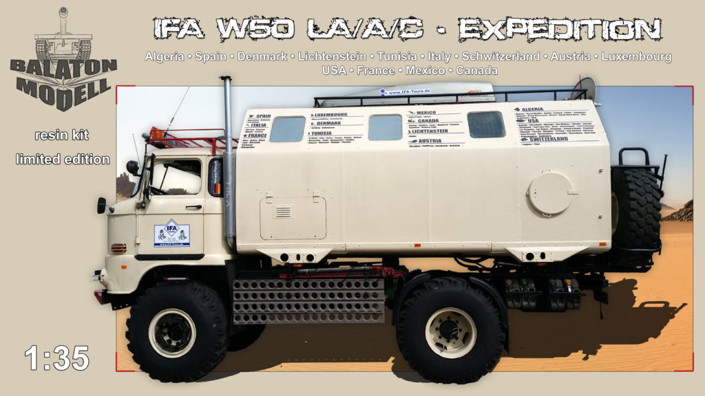 IFA W50 LA/A/C LAK II Expedition 1:35 Resin Balaton