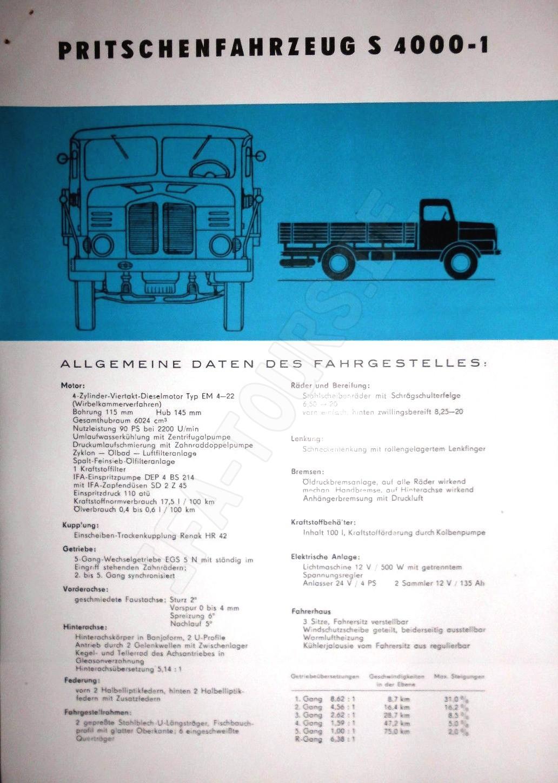 IFA LKW S4000 Pritschenfahrzeug