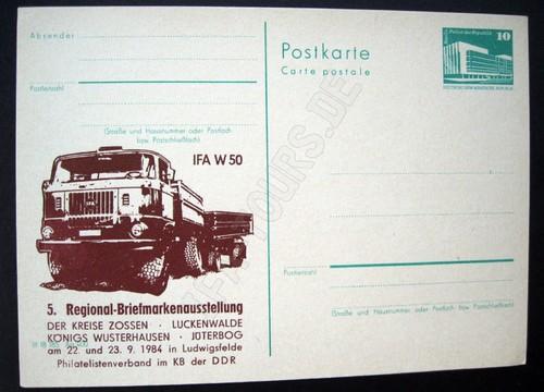 Briefmarken der DDR mit IFA Fahrzeugen