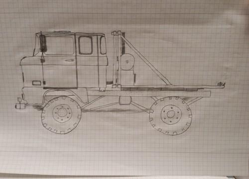 IFA LKW W50 - Trucktrailer 4x4