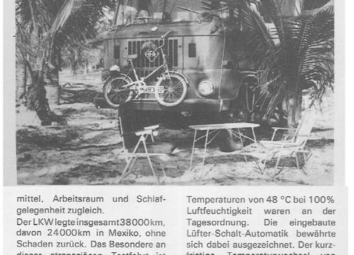1969 Reise mit IFA W50 in Mexiko