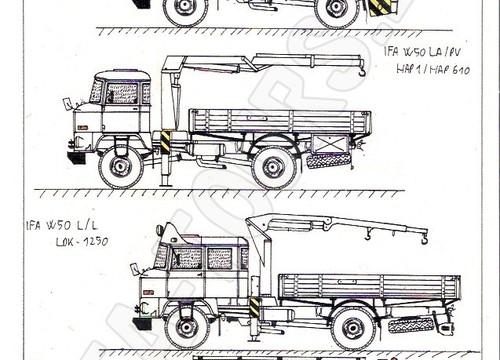 IFA LKW W50 Zeichnungen