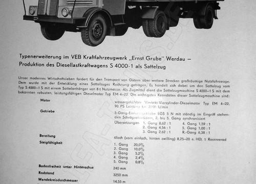 IFA LKW S4000 Sattelzug