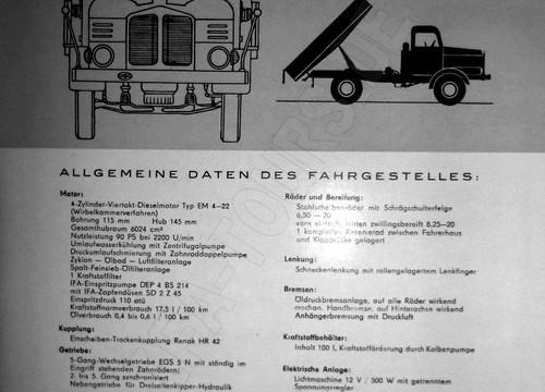 IFA LKW S4000 Dreiseitenkipper