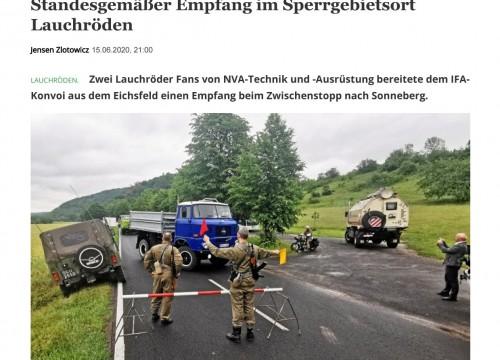 DDR - Umrundung Artikel aus der Presse.