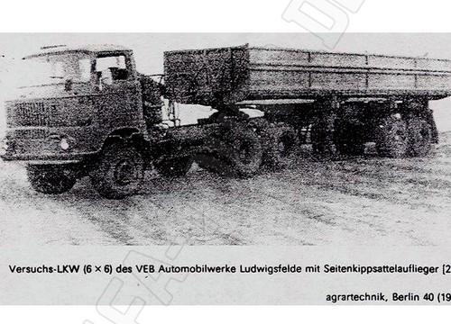 IFA LKW W50 Prototyp 6x6 mit Sattelauflieger
