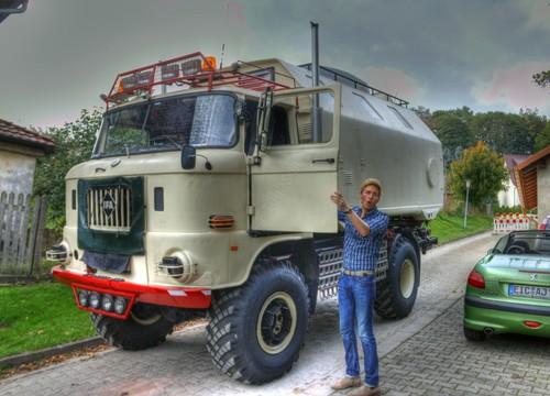 Maximilian Arland am IFA LKW W50