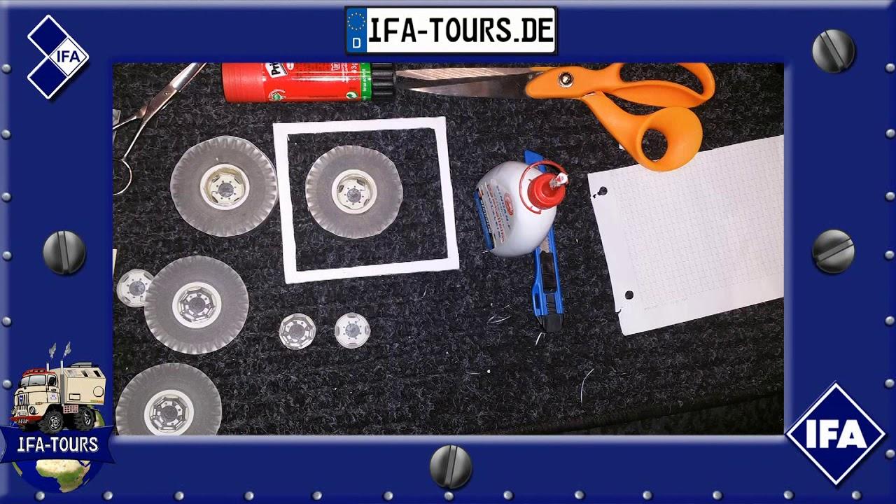 IFA LKW W50 - gebaut aus Papier