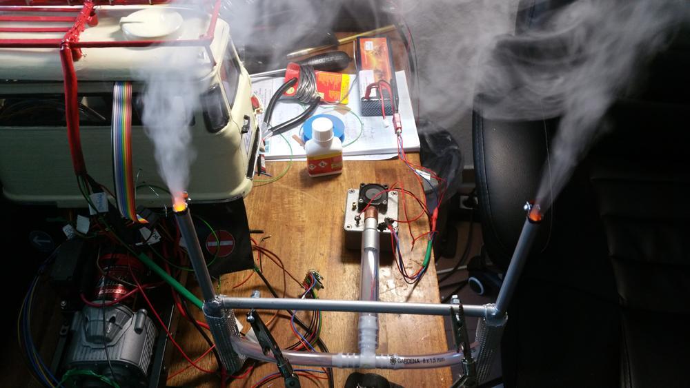 Modell - Funktionsprobe Rauchmodul IFA LKW W50