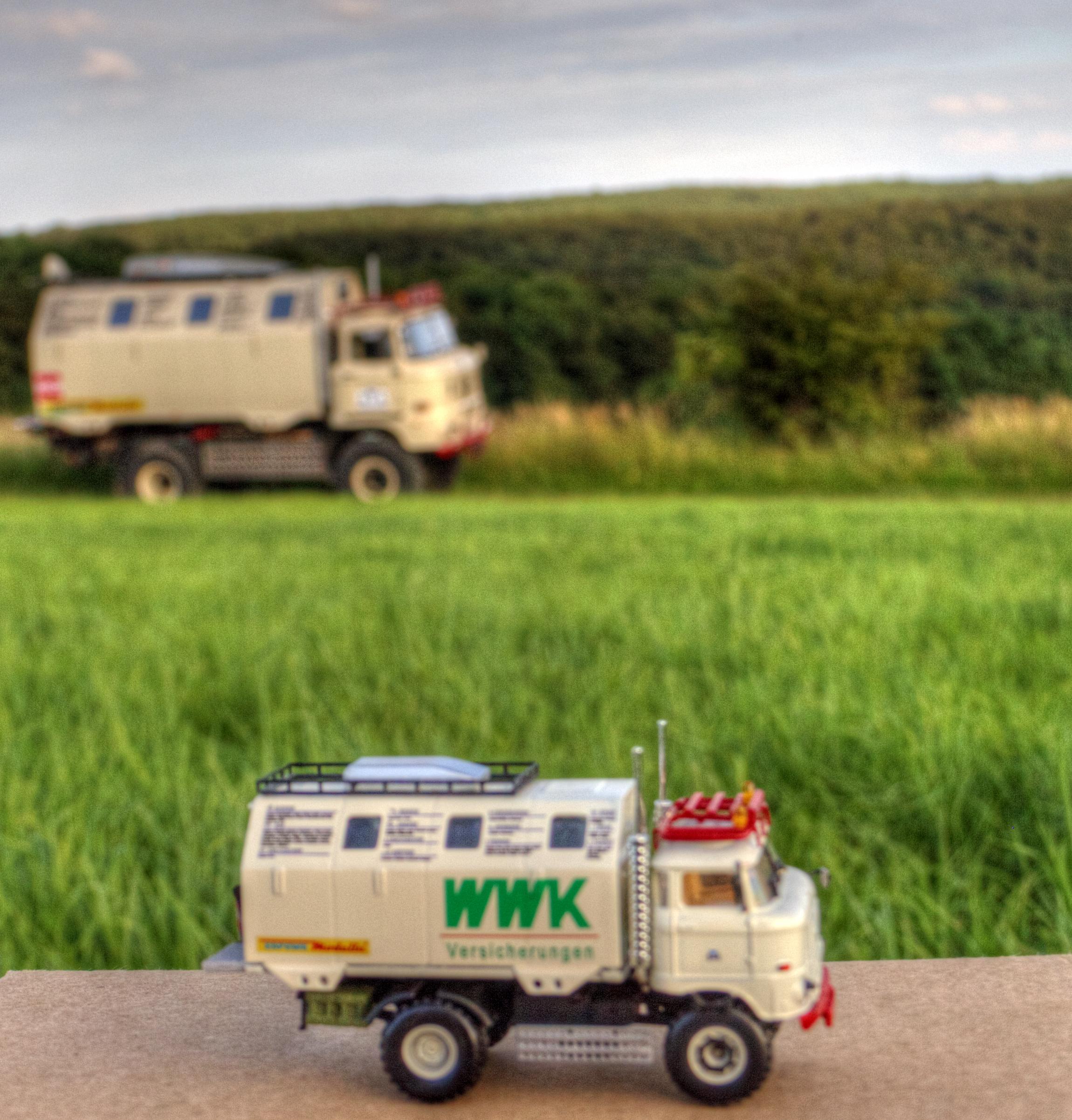 """IFA W50 LA/A/C """"Expedition"""" Modell in 1:87 und das Original"""
