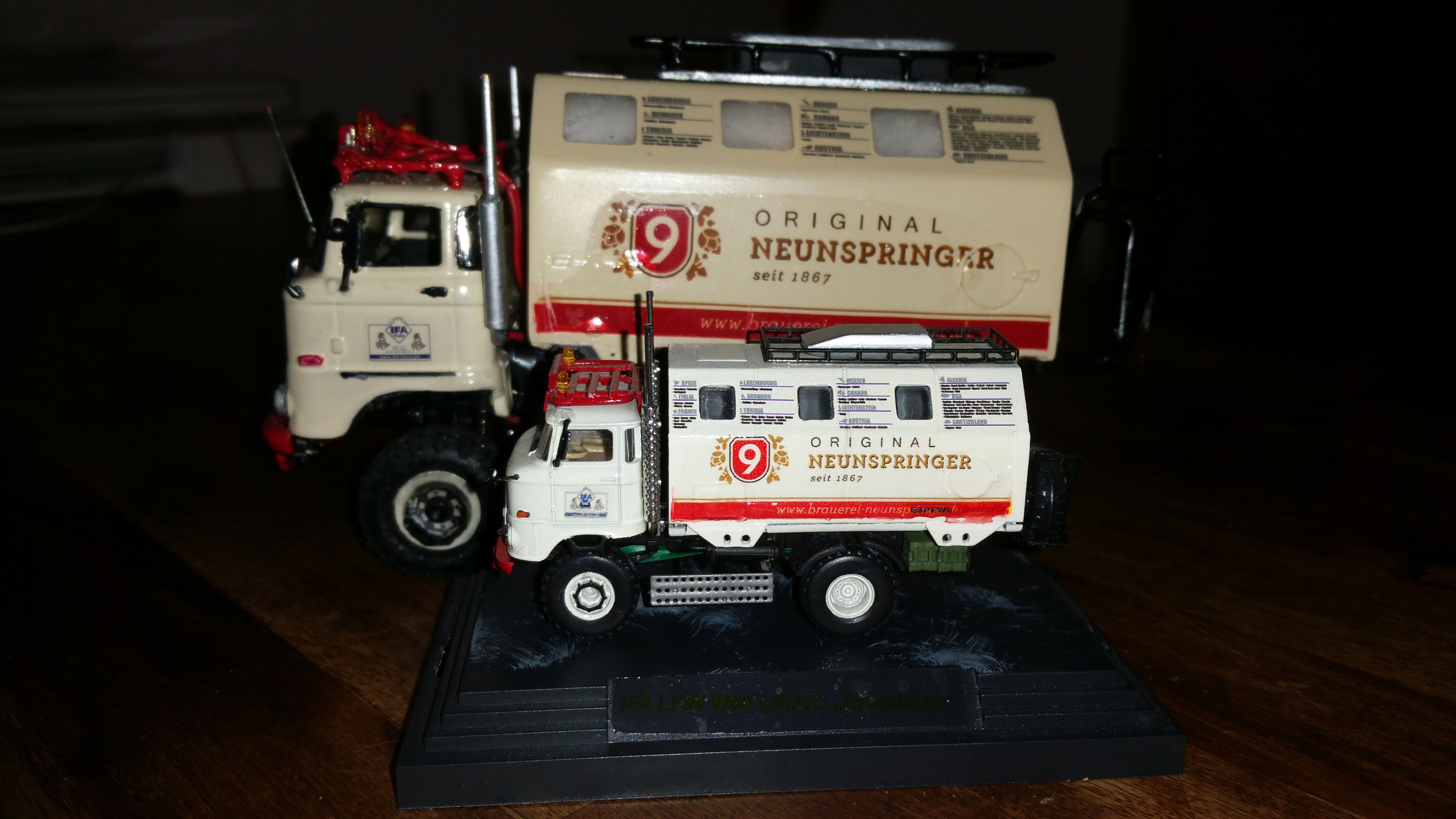"""RC Modell IFA LKW W50 LA/A/C """"Expedition"""" in 1:43"""
