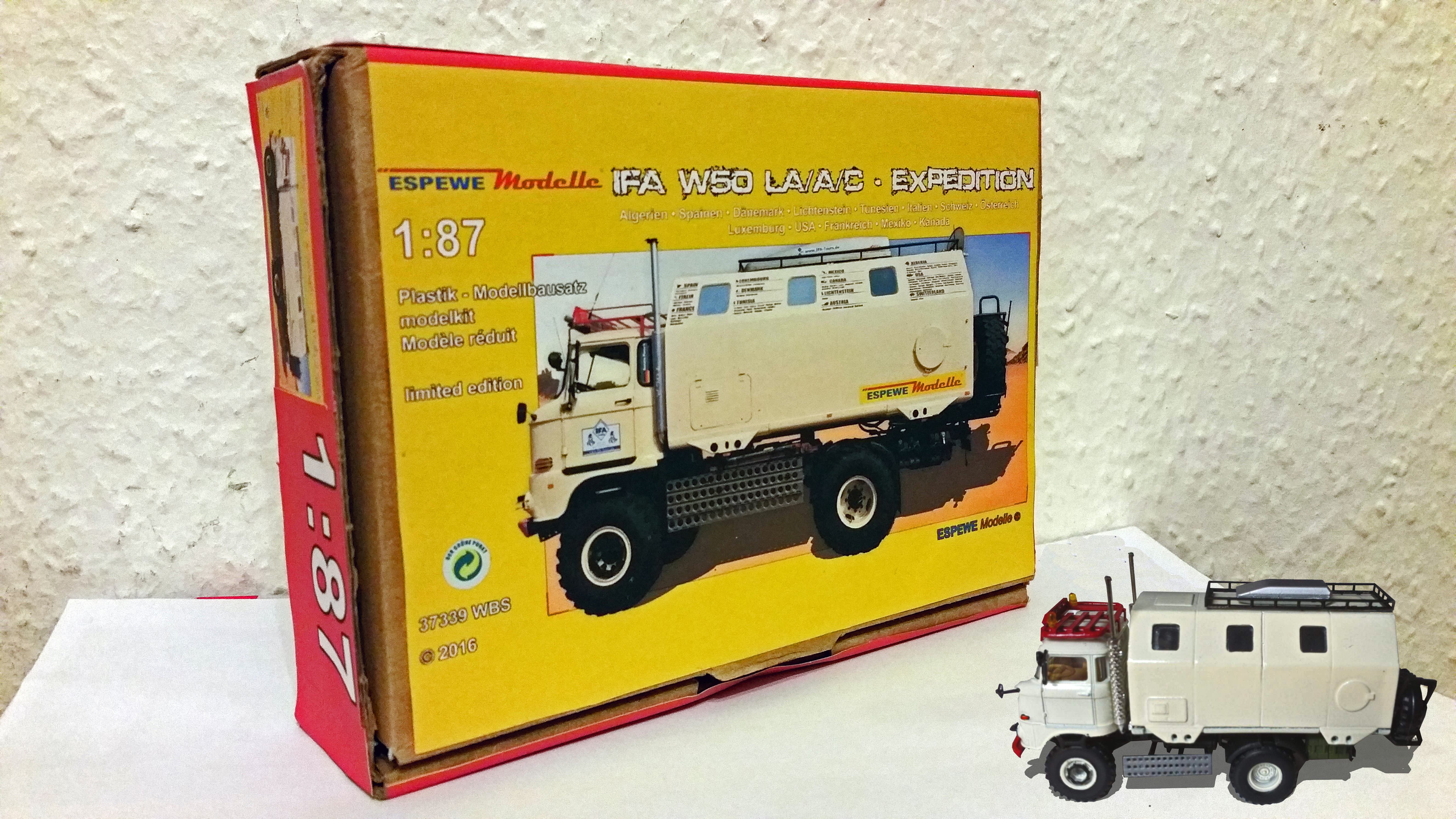 IFA W50 LA/A/C Modell in 1:87 mit Verpackung ESPEWE